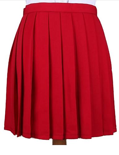 אחיד - חצאיות כותנה ליציאה גזרת A בגדי ריקוד נשים