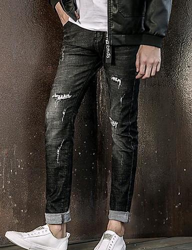 בגדי ריקוד גברים ג'ינסים מכנסיים חור, אחיד