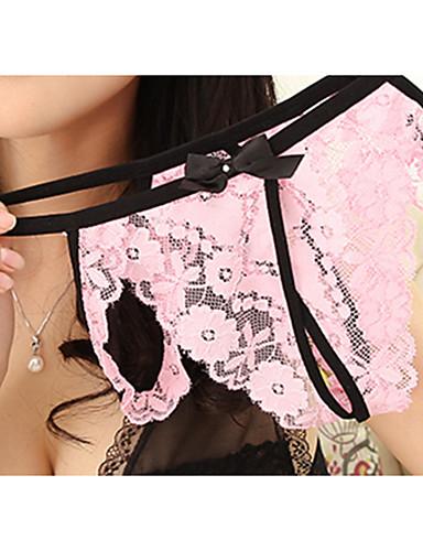 בגדי ריקוד נשים נורמלי סטרצ'י (נמתח) סרוג - דק תחתונים סקסיים(ניילון)1 ורוד מסמיק