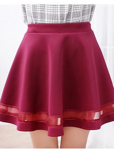 אחיד - חצאיות כותנה גזרת A בגדי ריקוד נשים