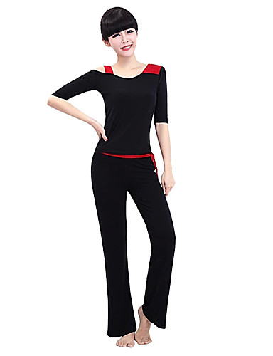 3894bfeb91e Women s Yoga Pants With Top Black Sports Fashion Modal Clothing Suit Zumba  Running Fitness Long Sleeve Activewear Soft Lightweight Materials Stretchy    ...