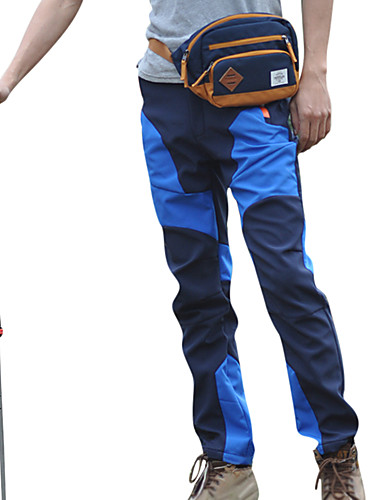 cheap Outdoor Clothing-Men's Hiking Pants Softshell Pants Outdoor Waterproof Thermal / Warm Windproof UV Resistant Spring Fall Winter Softshell Pants / Trousers Bottoms Camping / Hiking Leisure Sports Cycling / Bike Blue