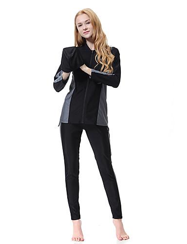 XL XXL XXXL קולור בלוק, בגדי ים טנקיני פול שחור אפור קולר בסיסי בוהו בגדי ריקוד נשים