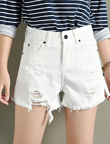 בגדי ריקוד נשים פשוט שורטים מכנסיים - גיזרה גבוהה אחיד / קיץ