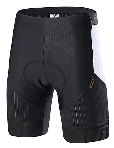 cheap Cycling Clothing-SANTIC Men's Cycling Pants / Cycling Shorts Bike Bottoms Solid Colored, Classic Elastane Black / White Racing Mountain Cycling Race Fit Bike Wear / High Elasticity / Italy Imported Fabric
