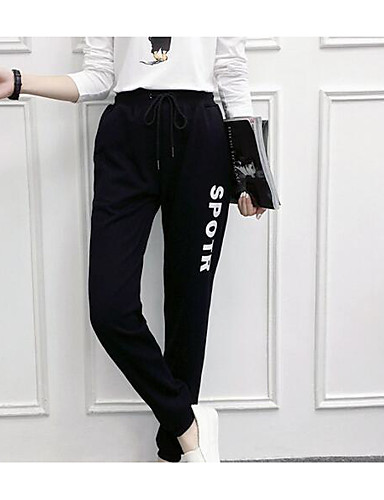מכנסיים אותיות צ'ינו פשוט בגדי ריקוד נשים