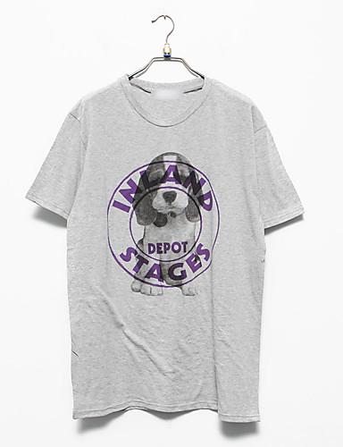 T-shirt Męskie Podstawowy,Nadruk Zwierzę