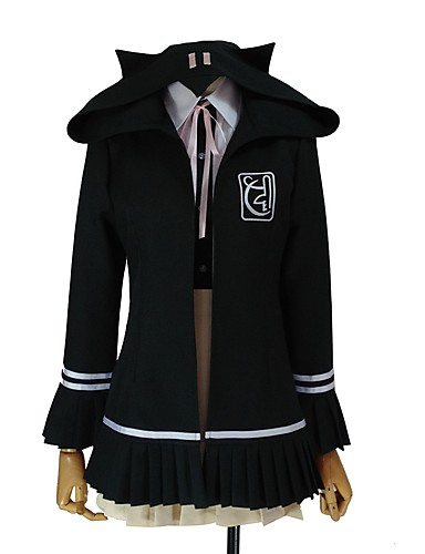 baratos Cosplay Anime-Inspirado por Dangan Ronpa Chiaki Nanami / Fantasias Anime Fantasias de Cosplay Ternos de Cosplay Outro Manga Longa Peitilho / Casaco / Camisa Para Homens / Mulheres