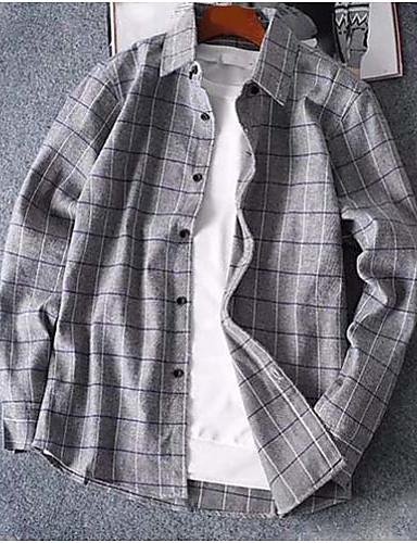 פסים בסיסי / סגנון רחוב חולצה - בגדי ריקוד גברים / שרוול ארוך