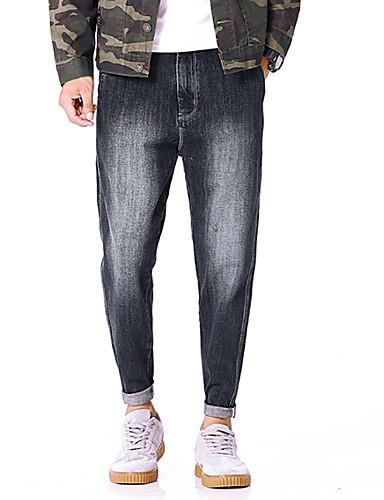 Męskie Luźna Typu Chino Spodnie - Otwór, kamuflaż