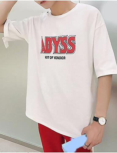 T-shirt Męskie Aktywny Litera