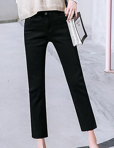 Damskie Moda miejska Szczupła Jeansy Spodnie Solidne kolory