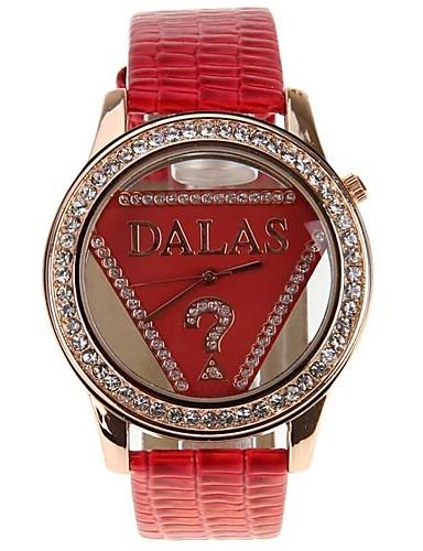 JUBAOLI בגדי ריקוד נשים שעוני אופנה Chinese שעונים יום יומיים / מגניב עור להקה אדום