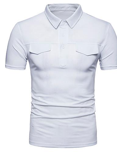 אחיד רזה Polo - בגדי ריקוד גברים בסיסי / שרוולים קצרים