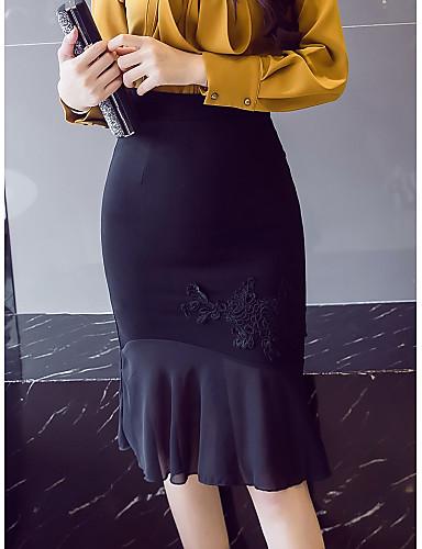 אחיד - חצאיות עבודה בתולת ים \חצוצרה צינור בגדי ריקוד נשים