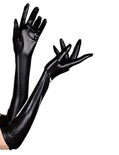 Rukavice Odijelo za kožu Ninja Odrasli Cosplay Nošnje Spol Crn Jednobojni Spandex Ljepilo Muškarci Žene Halloween Maškare