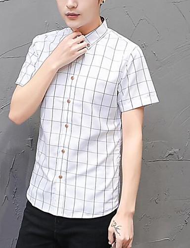 Koszula Męskie Podstawowy Kratka / Krótki rękaw