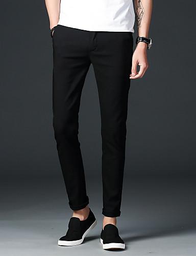 בגדי ריקוד גברים כותנה / פשתן צ'ינו מכנסיים אחיד