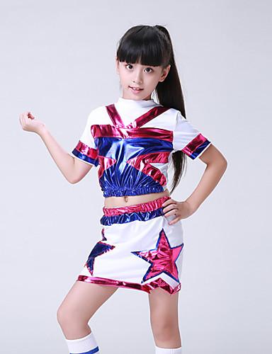 voordelige Shall We®-Cheerleaderpakjes Outfits Opleiding / Prestatie Spandex Patroon / Print Korte mouw Laag Rokken / Top