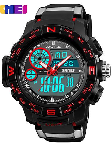 1499edfe3 رخيصةأون ساعات رقمية-SKMEI رجالي ساعة رياضية ساعة عسكرية ساعة رقمية ياباني  رقمي جلد اصطناعي