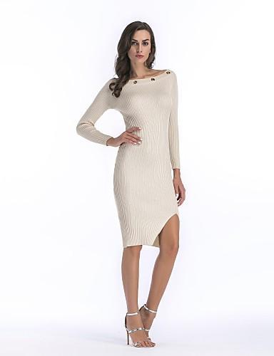 עד הברך חלול חיצוני, אחיד - שמלה צינור כותנה בגדי ריקוד נשים