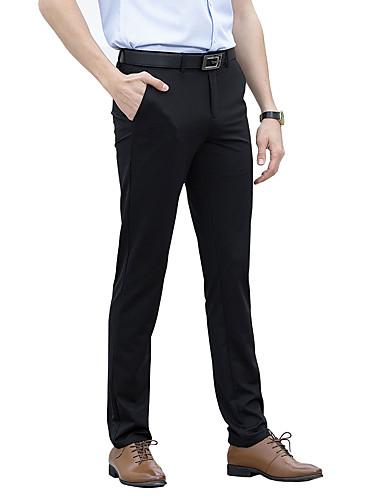 Męskie Moda miejska Rozmiar plus Szczupła Garnitur Typu Chino Spodnie Jendolity kolor Niski stan