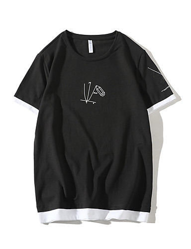 T-shirt Męskie Podstawowy Moda miejska Jendolity kolor