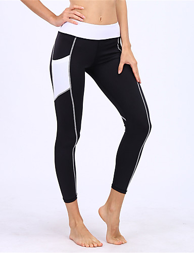 98b33d267d2 BARBOK Women s Pocket Yoga Pants Black Sports Fashion Elastane Tights  Leggings Zumba Running Fitness Activewear Breathable Quick Dry Butt Lift  Stretchy