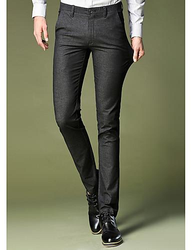 a77173c0c رجالي مناسب للبس اليومي بدلة بنطلون - لون سادة أسود 34 36 38 6628323 ...