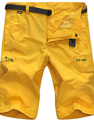 1779ff7a25 Men's Solid Color Hiking Shorts Outdoor Breathable Quick Dry Stretchy Sweat-wicking  Spring, Fall, Winter, Summer Shorts Bottoms Hiking Outdoor Exercise ...