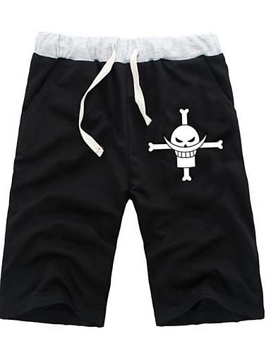 povoljno Anime kostimi-Inspirirana One Piece Monkey D. Luffy Anime Cosplay nošnje Japanski Cosplay Tops / Bottoms Jednobojni / Anime ½ Pant Kratke hlače Za Sve