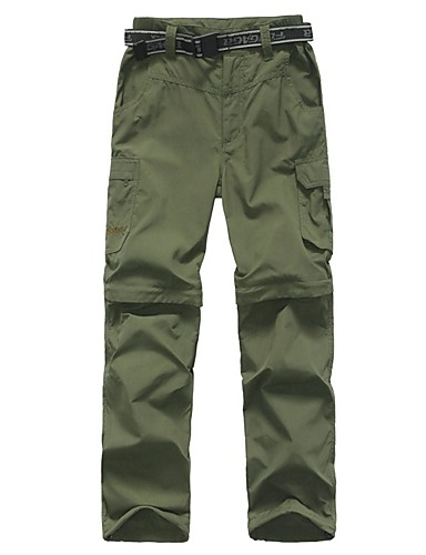 cheap Hiking Trousers & Shorts-Boys' Girls' Solid Color Hiking Pants Convertible Pants / Zip Off Pants Outdoor Breathable Quick Dry Sweat-wicking Spring Summer Pants / Trousers Convertible Pants Bottoms Camping / Hiking Hunting