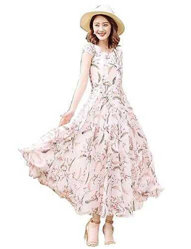 Per donna Moda città Taglie forti Taglia piccola Pantaloni - Fantasia  floreale Con stampe Vita alta Rosa   Maxi   Per eventi   Per uscire del  6610068 2019 a ... b07314f67414