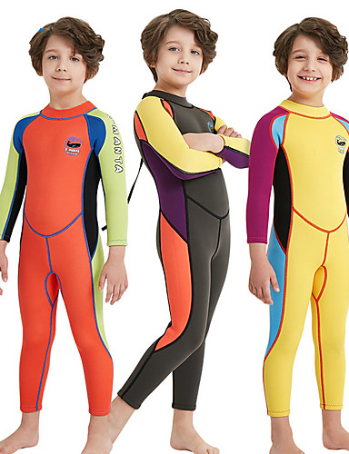 Boys  Full Wetsuit 2mm SCR Neoprene Diving Suit High Elasticity Stretchy  UPF50+ Long Sleeve Back Zip Patchwork ce2392f5a