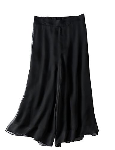 Damskie Podstawowy Luźna Spodnie szerokie nogawki Spodnie Jendolity kolor