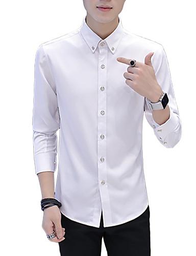 Koszula Męskie Podstawowy Jendolity kolor / Długi rękaw