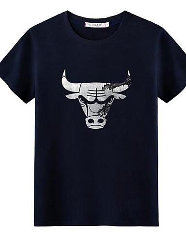 T-shirt Męskie Okrągły dekolt Solidne kolory / Krótki rękaw