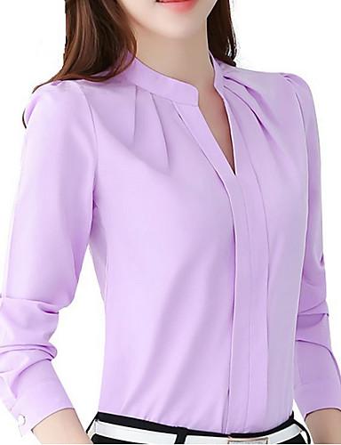povoljno Ženske majice-Bluza Žene - Ulični šik Rad Jednobojni Uski okrugli izrez Dusty Rose Obala