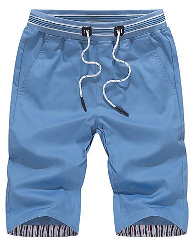 Bărbați Mărime Plus Size Bumbac Zvelt Pantaloni Scurți Pantaloni Mată