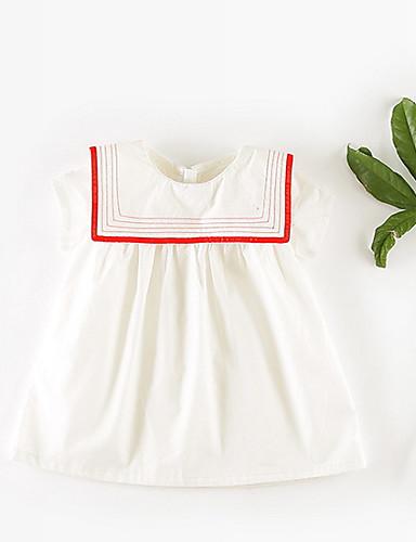 Dziecko Dla dziewczynek Jendolity kolor Krótki rękaw Sukienka