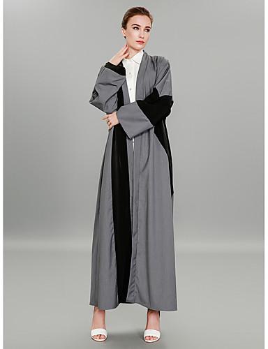 Abaya Długie Damskie Moda miejska / Wyrafinowany styl Praca Kolorowy blok Poliester