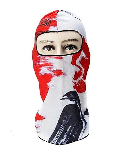 cheap Cycling Clothing-Balaclava Pollution Protection Mask Windproof Sunscreen Warm Breathability Bike / Cycling Red / White Black / White Blue+Orange Spandex for Men's Women's Adults' Camping / Hiking Outdoor Exercise