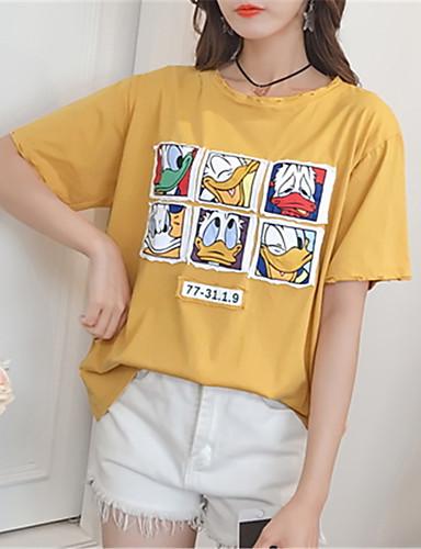 koszulka damska - jednolity okrągły dekolt