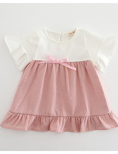 Dziecko Dla dziewczynek Wielokolorowa Krótki rękaw Sukienka
