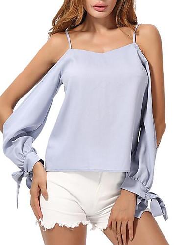 Pentru femei Cu Bretele - Mărime Plus Size Bluză Șic Stradă - Mată