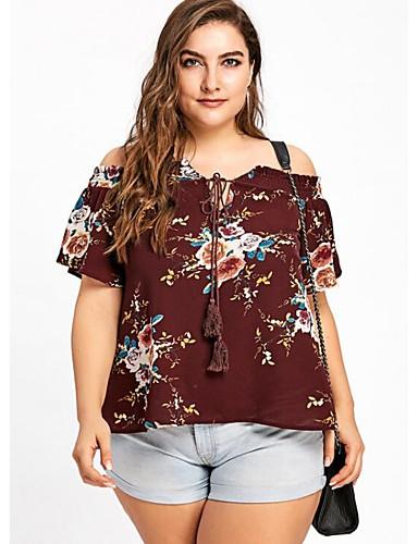 Pentru femei Bluză De Bază / Șic Stradă - Floral Imprimeu