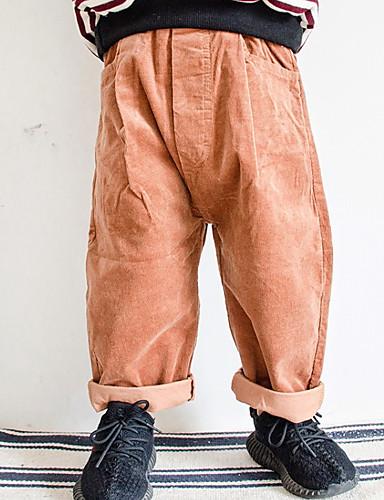 Brzdąc Dla chłopców Jendolity kolor Spodnie