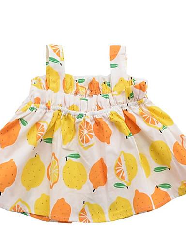 Dzieci Dla dziewczynek Owoc Bez rękawów Bluzka