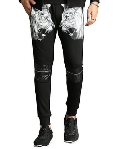 Bărbați Punk & Gotic Bumbac Zvelt Harem Pantaloni Mată Tigru