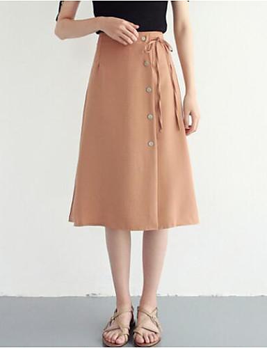 femme quotidien sortie trap ze jupes couleur pleine taille haute de 6708593 2019. Black Bedroom Furniture Sets. Home Design Ideas